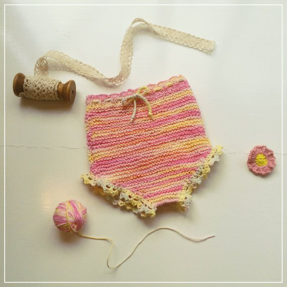 Knitted Boho Summer Diaper Cover. Hand Dyed by JuniperAndGypsy