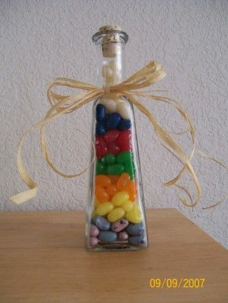 New Beehive Jar - Jelly Bellys in each of the Value colors  Maybe for a birthday gift too??