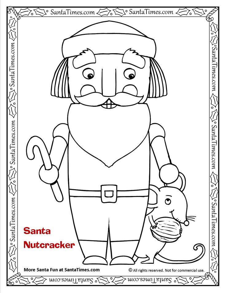 Santa Nutcracker Printable Coloring Page