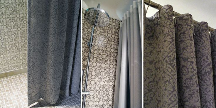 rideau de douche en tissus salle de bain rideaux de. Black Bedroom Furniture Sets. Home Design Ideas