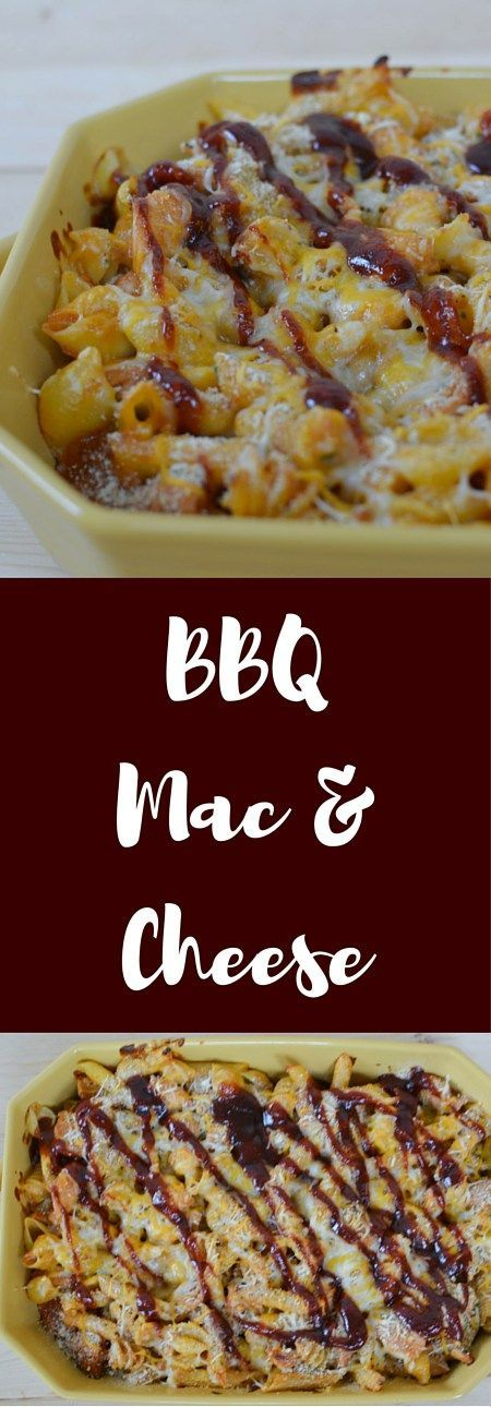 Zesty and cheesy BBQ Macaroni and Cheese is the perfect comfort food combination.  A favorite family meal this BBQ recipe combines the kids favorite mac and cheese with delicious BBQ chicken,