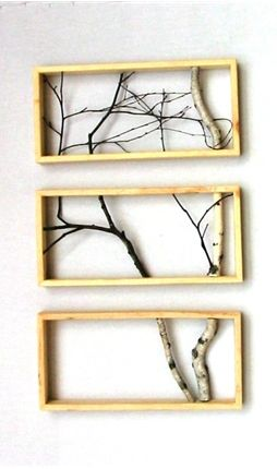 Kind of cool...I dono where you'd put it, but it's a neat way to decorate with branches and keep it modern.