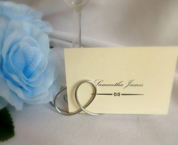 Place card holders elegant wedding table settings 10pcs for Place settings name card holders