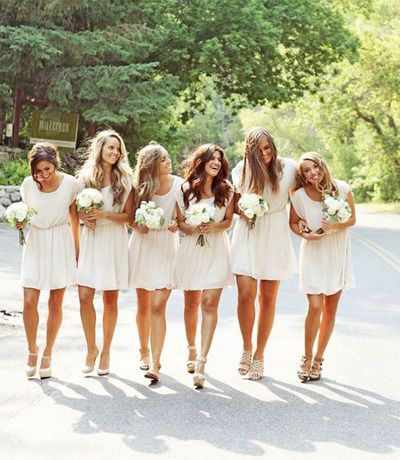 short bridesmaid dresses, ivory bridesmaid dresses, chiffon bridesmaid dresses, cheap bridesmaid dresses, hot sell bridesmaid dresses, E052