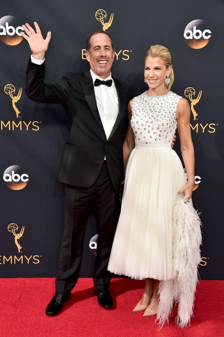 Jerry Seinfeld, Jessica Seinfeld  2016 Emmys