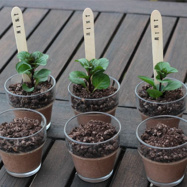 Oreo dirt desserts or chocolate mint puddings - Mum In The Madhouse