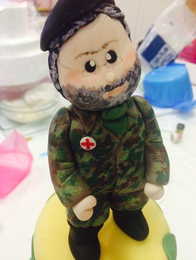 Daddy fondant figures, modeling, polymer clay, sugar craft, cake topper