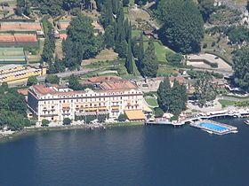 Villa d'Este, Residenz am Westufer des Comer Sees in der Gemeinde Cernobbio gelegen. u.a: Jesuiten (1749 bis 1769), Luxushotel (ab 1873 ), Bilderberg-Konferenz (1965 und 1987)