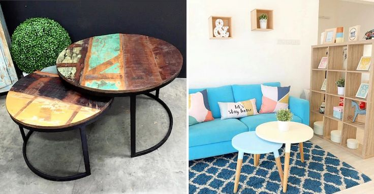 Make every piece count and choose furnishings that will maximize the space you have. For example, if you don't have a large living room, forget the bulky square coffee table and opt for a set of circular nesting tables.