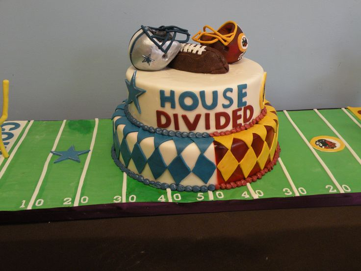 House Divided #football #Cowboys #Redskins | Blue Note Bakery - Austin, Texas