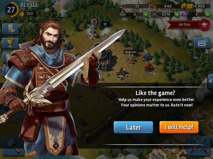 Siegefall | Rate The App | UI HUD User Interface Game Art GUI iOS Apps Games | Gameloft | www.girlvsgui.com