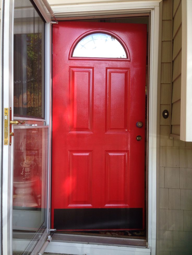 Benjamin Moore Ruby Red High Gloss Exterior This Is 7