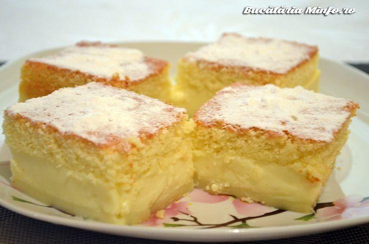 Această Prăjitura deșteaptă este singura prăjitură cunoscută pentru că-și pregătește singură crema și cele trei straturi. Ușurează astfel munca celor care o pregătesc, iar rezultatul este unul uimitor. Deși aluatul rezultat este unul moale, veți vedea că în final veți avea atât blat pufos cât și cremă. Ce poate fi mai minunat la o prăjitură? …