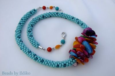 Beads by Ildiko: Colorful KUMIHIMO