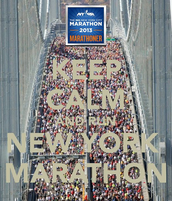 KEEP CALM AND RUN NEW YORK  MARATHON