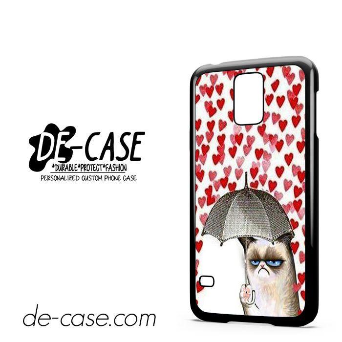 Love Rain Grumpy Cat For Samsung Galaxy S5 Case Phone Case Gift Present YO