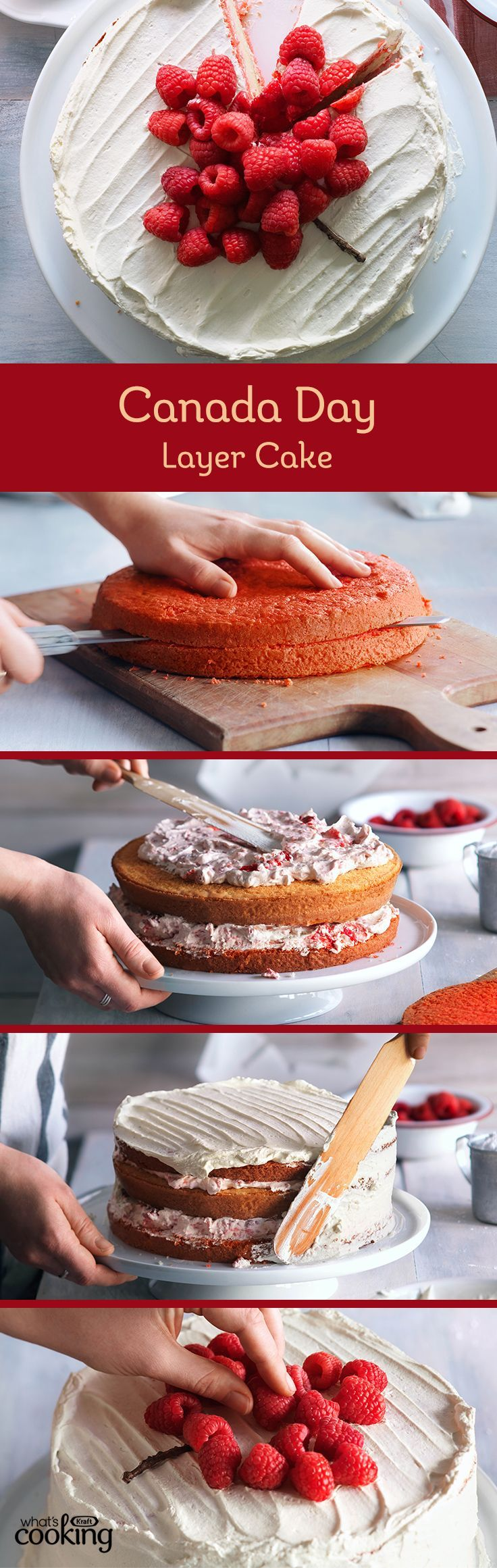 Incredibly impressive, irresistibly delicious. Just 6 ingredients and you've got a showstopping cake for your Canada Day celebration. Tap or click photo for this #recipe.