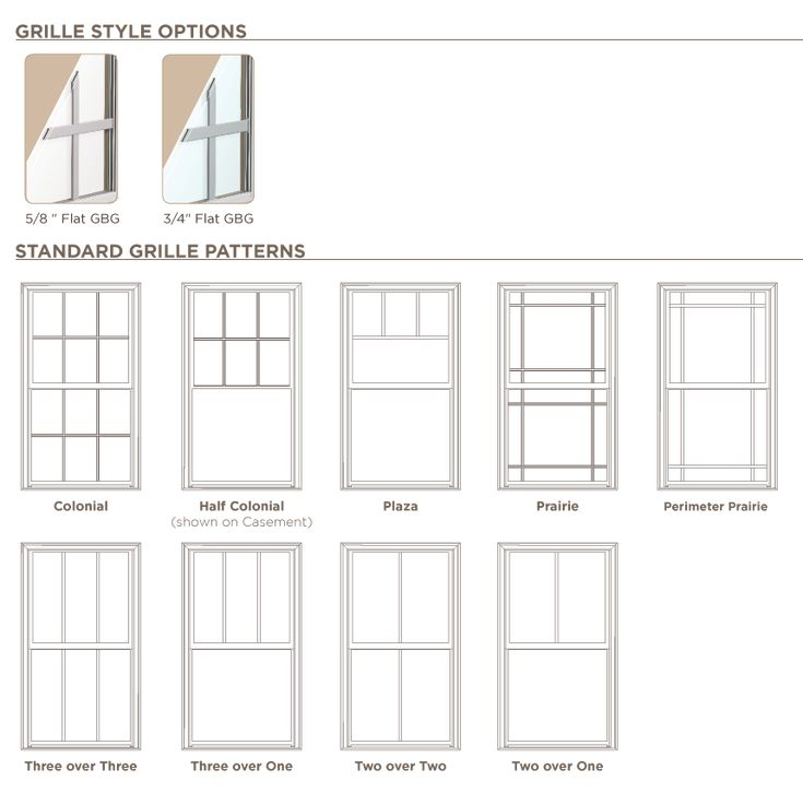 Single hung ply gem windows grille patterns products for New window styles for homes