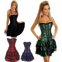 5pcs/lot Sexy Underbust Corset And Bustier Lace Evening Women Casual Dress Plus Size Push Up Gothic Corset Dress With Skirt     Tag a friend who would love this!     FREE Shipping Worldwide     Buy one here---> https://oneclickmarket.co.uk/products/5pcslot-sexy-underbust-corset-and-bustier-lace-evening-women-casual-dress-plus-size-push-up-gothic-corset-dress-with-skirt/