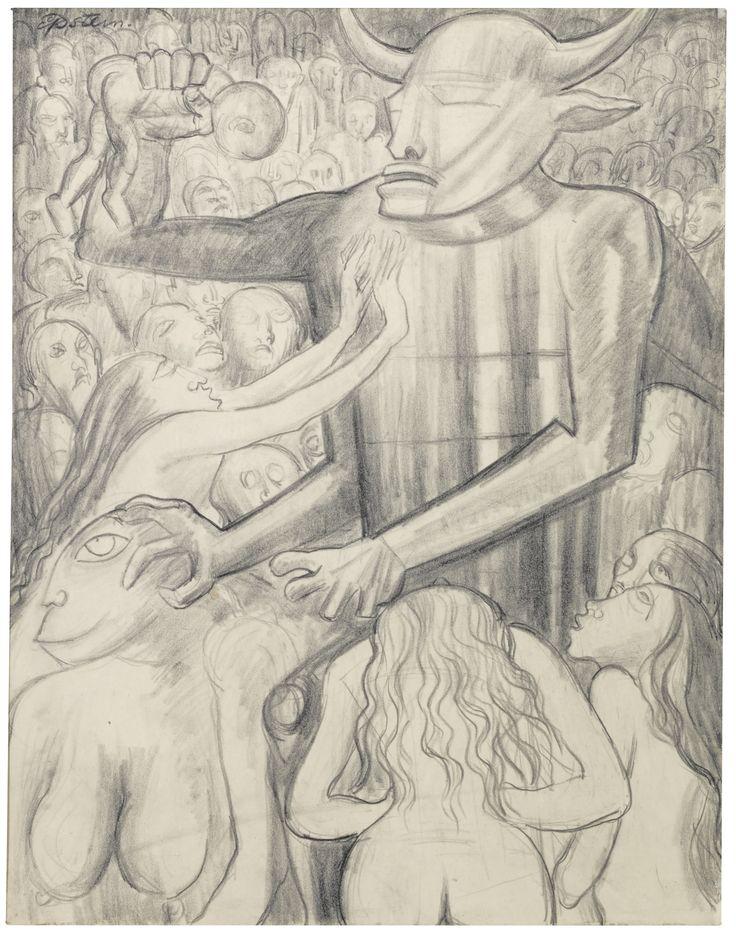 sir jacob epstein  'les fleur du mal' - circa 1936 - sotheby's david bowie collection