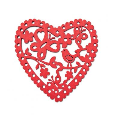 Red Christmas Heart decoration :)