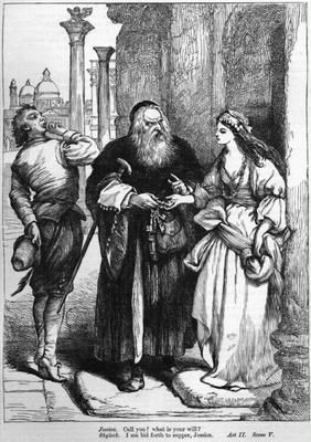 Shylock is the villain in shakespeares