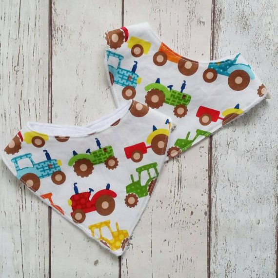 Check out this item in my Etsy shop https://www.etsy.com/uk/listing/491562442/boys-dribble-bib-tractor-baby-bandana
