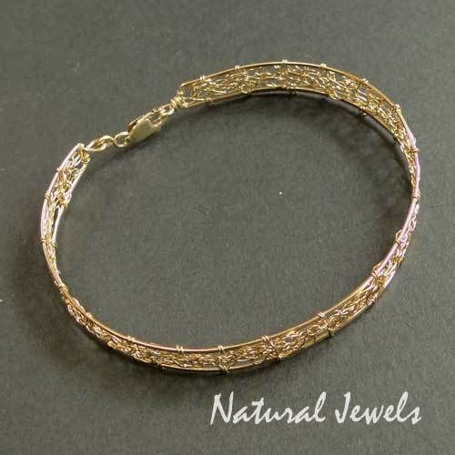 Gold Plated Bracelets – 14K Goldfilled Bracelet GOLDEN WEB – a unique product by NaturalJewels on DaWanda