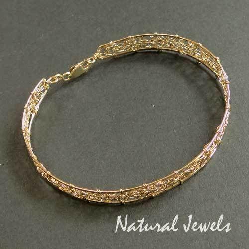 Gold Plated Bracelets – 14K Goldfilled Bracelet GOLDEN WEB – a unique product by NaturalJewels on DaWanda