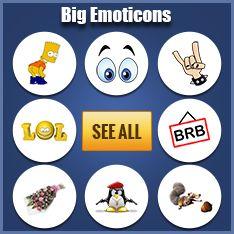 Big Facebook Emoticons