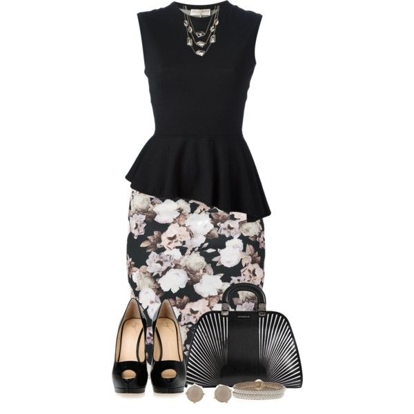 """""""Rose Skirt"""" by kiffanyl on Polyvore"""
