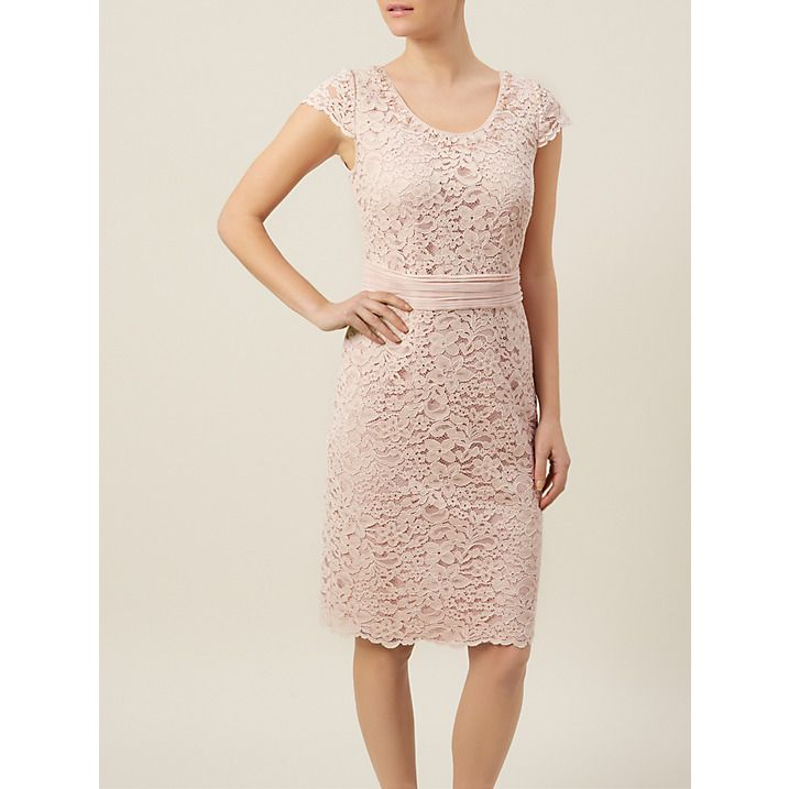Buy Jacques Vert Petite Lace Dress, Pink, 8 Online at johnlewis.com