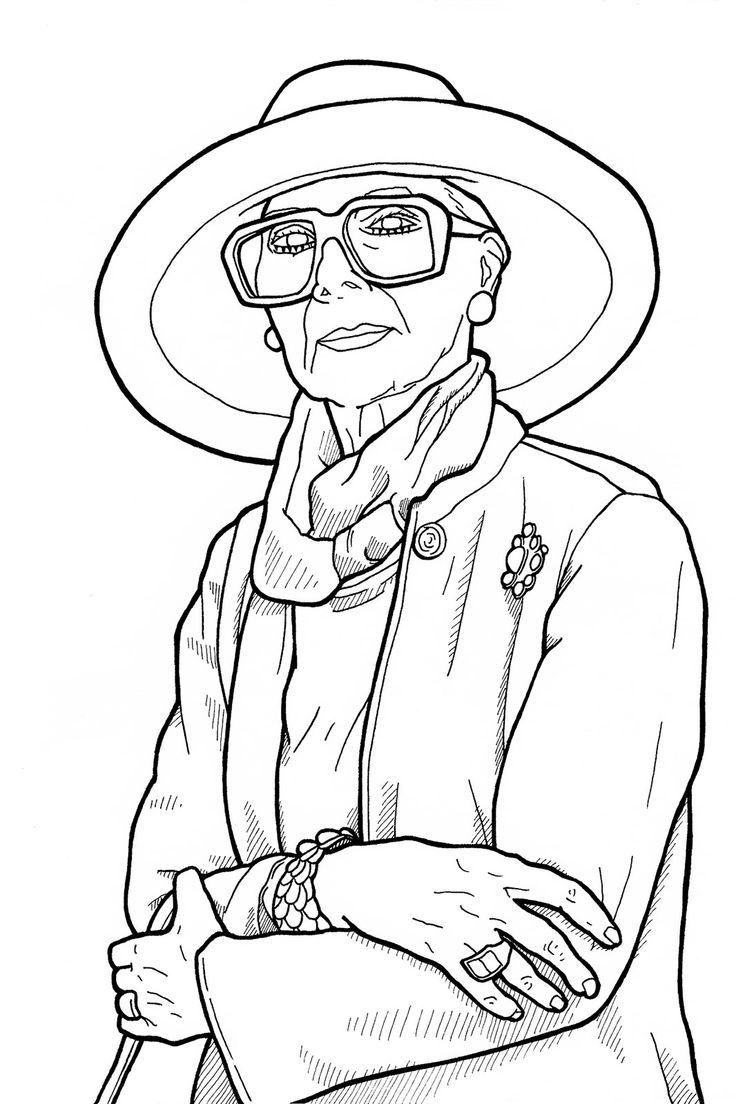 Coloring pages advanced - Advanced Style Coloring Book Ari Seth Cohen