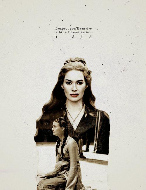 Cersei Lannister + Sansa Stark