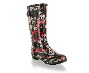 Barratts Girly Flower Design Wellington Boot - Junior Black Wellie with multi coloured flower designBlack chunky soleSide buckle fastening for a more secure fitKeep fabulously girly in the rain!Product name: Lotus http://www.comparestoreprices.co.uk/childrens-shoes/barratts-girly-flower-design-wellington-boot--junior.asp