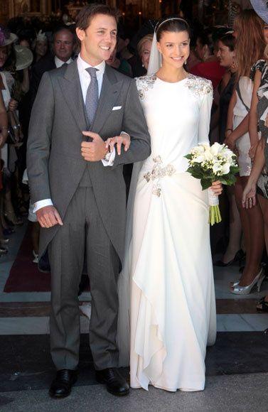vestido_de_boda_de_mercedes_bohorquez_domecq con Vestido de Roberto Diz .
