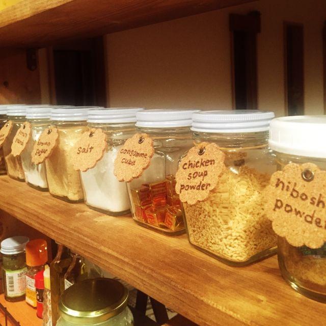 調味料の整理整頓のためのラベリングアイデア10 | RoomClip mag | 暮らしとインテリアのwebマガジン