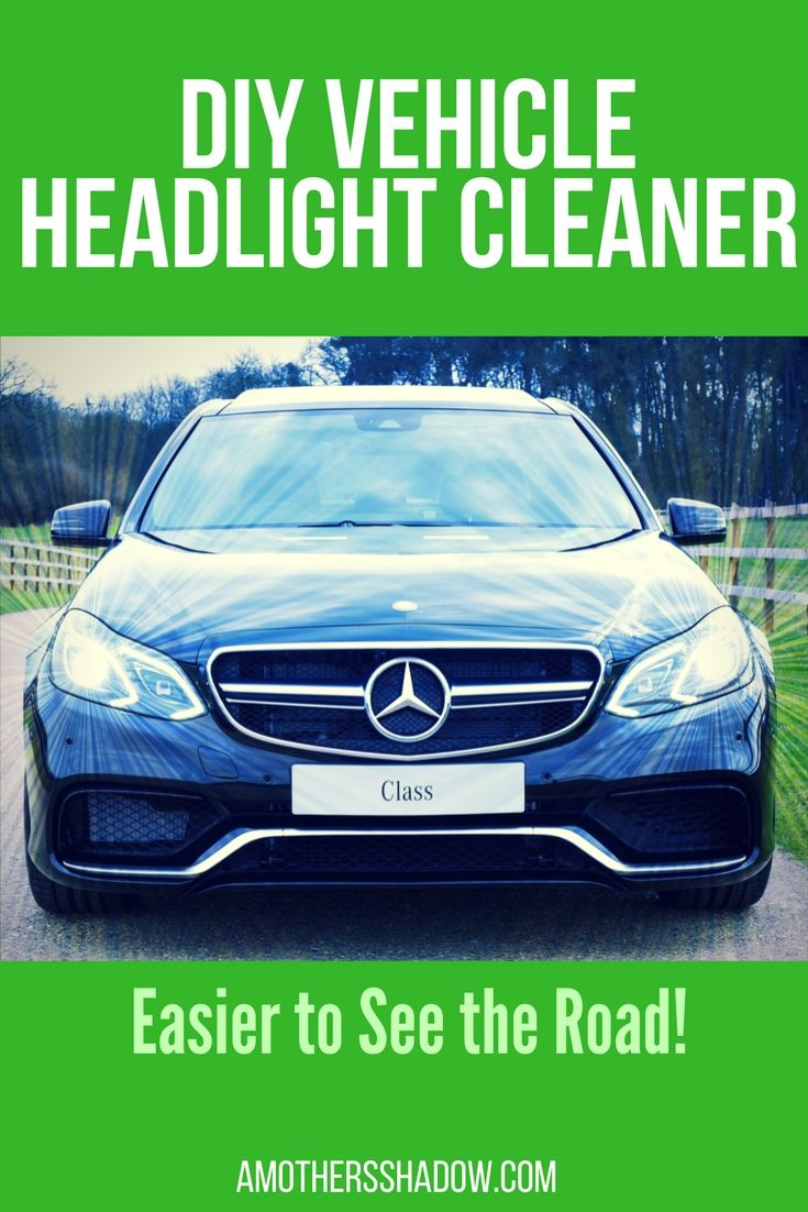 Just a couple of ingredients from your cupboard and you can easily clean your vehicle headlights!  Take off the grime and dirt so you can safely see and drive for others to see you too.