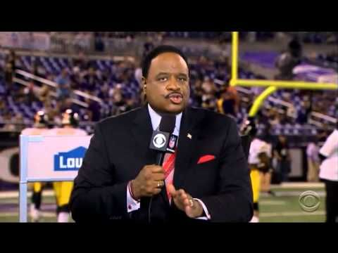 CBS sportscaster James Brown used his time on air during the pregame for the Baltimore Ravens vs. Pittsburgh Steelers game Thursday night to broadcast a serious message about domestic violence, as outrage over newly-released video depicting former Ravens running back Ray Rice beating his now-wife unconscious continues to ripple through the NFL.