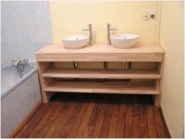 Fabriquer Meuble Salle De Bain Plan De Travail In 2020 Creative Bathroom Design Bathroom Design Bathroom Decor
