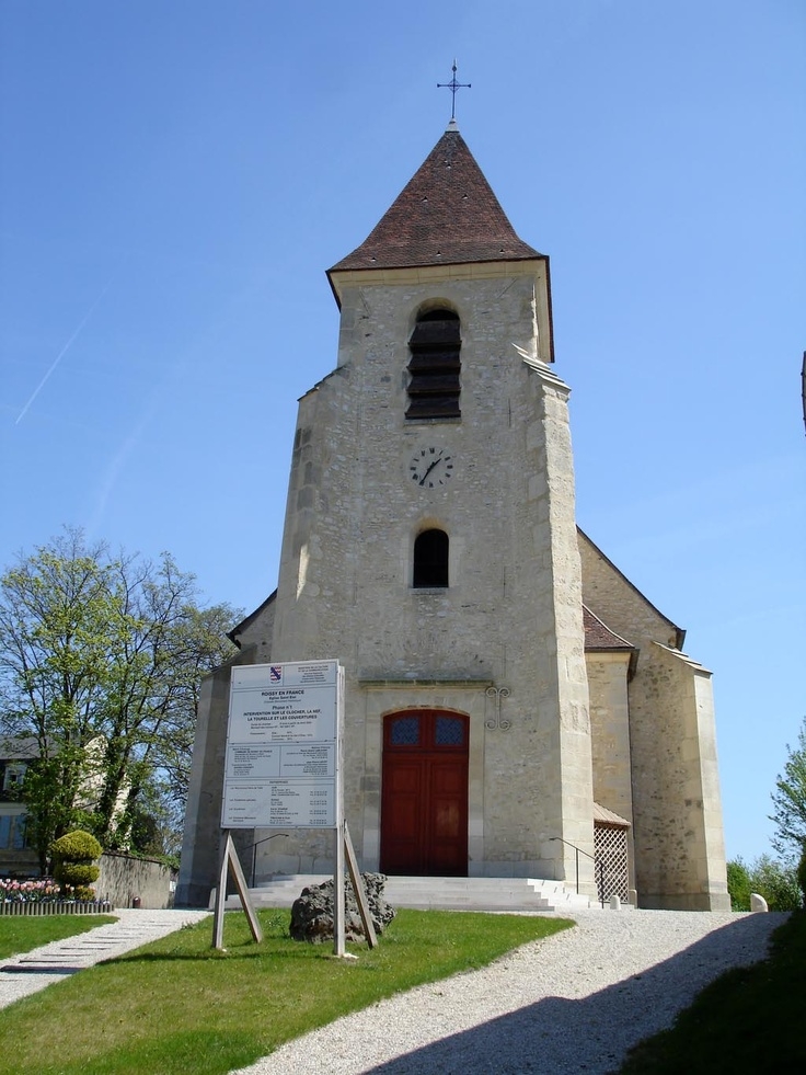 The church in the town my dad grew up in. Roissy-en-France