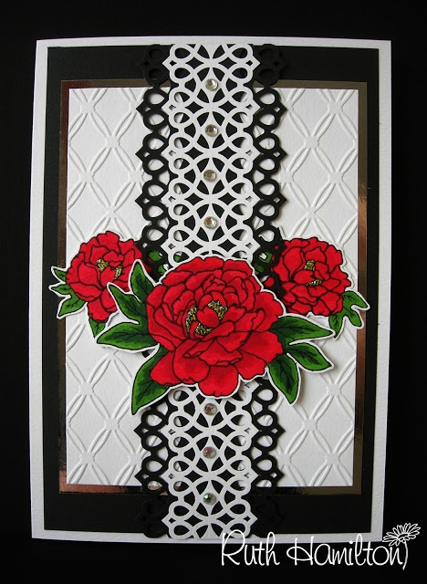 Love this card made using the tonic studio delicate lattice punch