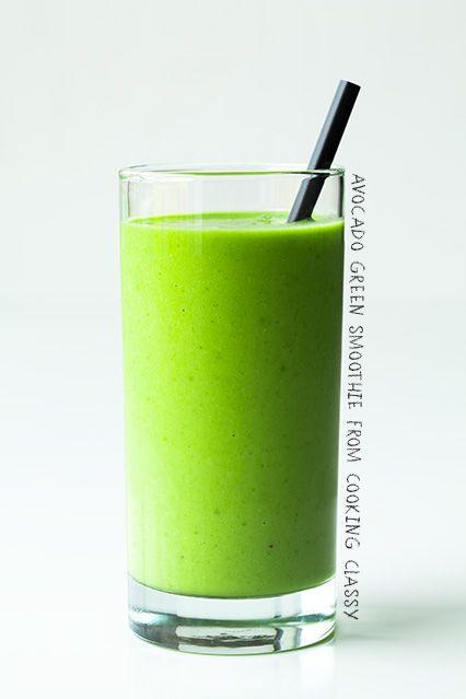 Green Smoothies (apple, banana, orange, avocado) | Cooking Classy