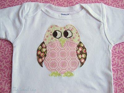 Sweet Owl Pattern: Sweet Owl, Apply Patterns,  T-Shirt,  Tees Shirts, Applique Patterns, Owl Appliques, Owls, Owl Patterns, Sweet Life