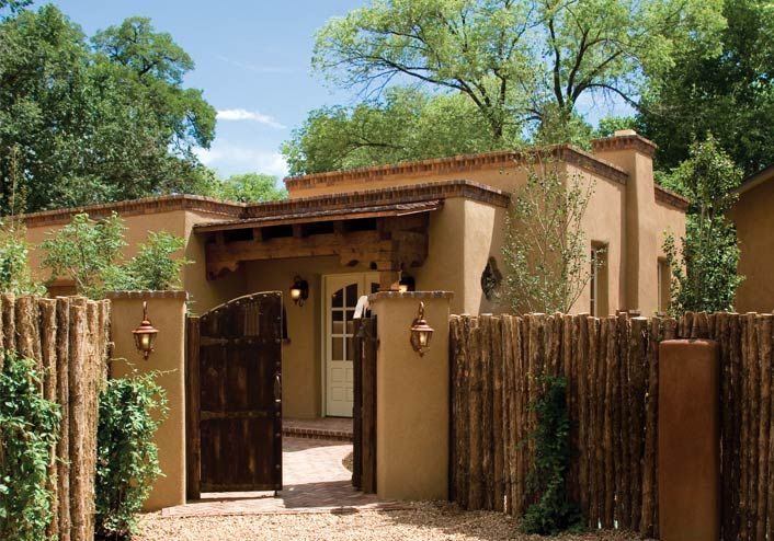 Hacienda homes pictures in santa fe the name sharon for Southwest style house plans
