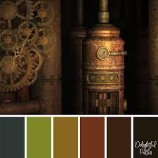 Image result for steampunk colour palette