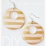 DIY Earrings Tutorial using Pick Your Plum wood earrings