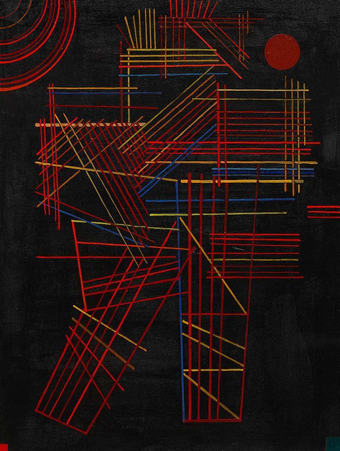 "Wassily Kandinsky - ""Colored Sticks"", 1928"