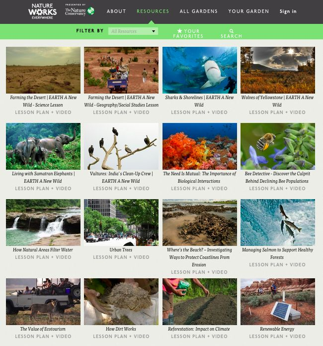 The Nature Conservancy virtual field trip and learning resources: