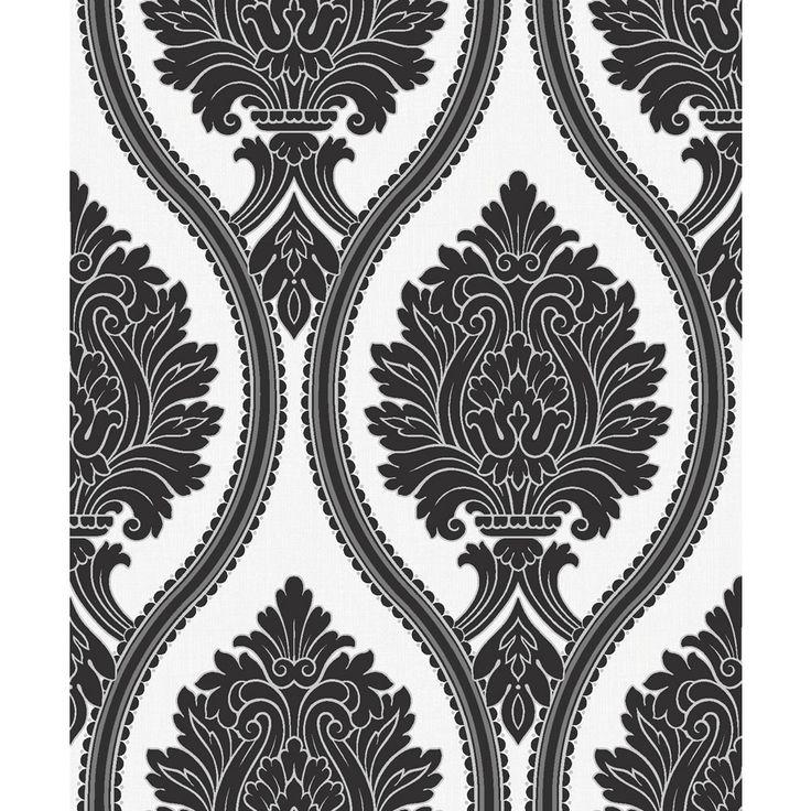 Arthouse Corona Black/White Wallpaper 888001 Home